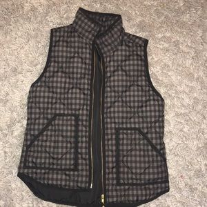 Gingham J crew vest